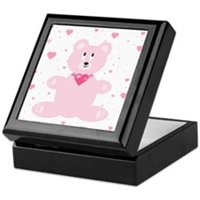 Pink Bear Keepsake Box