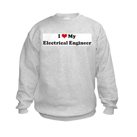 I Love Electrical Engineer Kids Sweatshirt