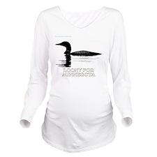 Loons Long Sleeve Maternity T-Shirt