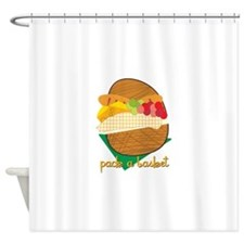 Pack A Basket Shower Curtain