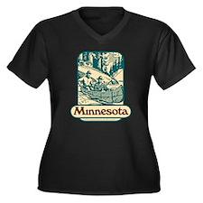 Call Women's Plus Size V-Neck Dark T-Shirt