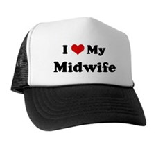 I Love Midwife Trucker Hat