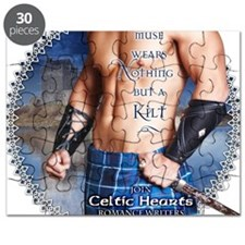 Celtic Hearts Scottish Kilted Muse Puzzle