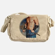 Celtic Hearts Scottish Kilted Muse Messenger Bag
