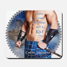 Celtic Hearts Scottish Kilted Muse Mousepad