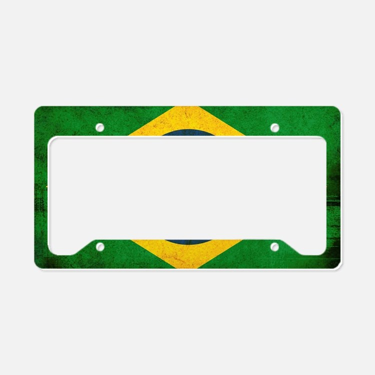 Brazil Flag License Plate Holder