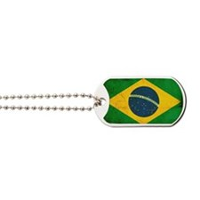 Brazil Flag Dog Tags