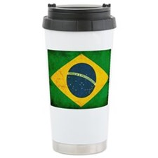 Brazil Flag Travel Coffee Mug