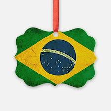 Brazil Flag Picture Ornament