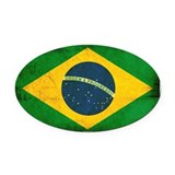 Brazil Oval Car Magnets