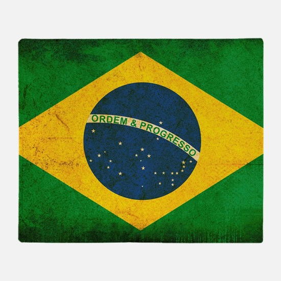 Brazil Flag Throw Blanket