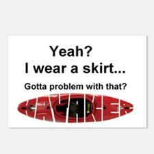 I wear a skirt Postcards (Package of 8)