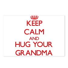 Keep Calm and HUG your Grandma Postcards (Package