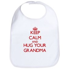 Keep Calm and HUG your Grandma Bib
