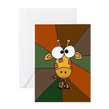 Funny Giraffe Art Greeting Card