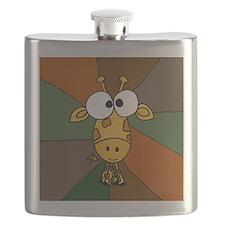 Funny Giraffe Art Flask