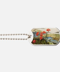 Poppies View Dog Tags