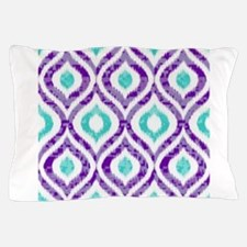 PURPLE AND TEAL IKAT 2 COPY Pillow Case
