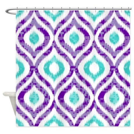 Jonathan Adler Shower Curtain Lime and Teal Curtains