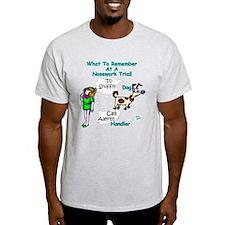 Dog Sniff Handle Call Alert Nosework T-Shirt
