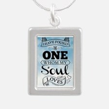 I Have Found The One Who Silver Portrait Necklace