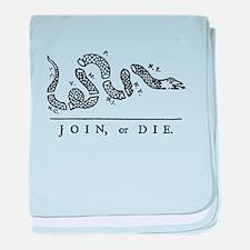Join or Die baby blanket