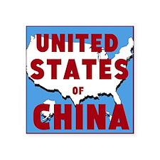 United States of China Sticker