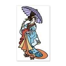 Geisha With Parasol Wall Decal