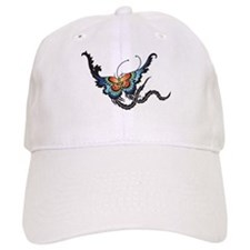 Orange/Blue Butterfly Baseball Cap