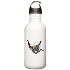 Orange/Blue Butterfly Water Bottle