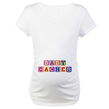 Junior Cacher (belly image) Maternity T-Shirt