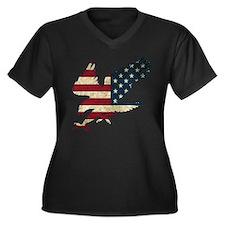 American Bald Eagle Plus Size T-Shirt