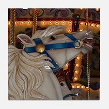 White Horse Tile Coaster
