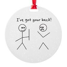 I've Got You Back Ornament
