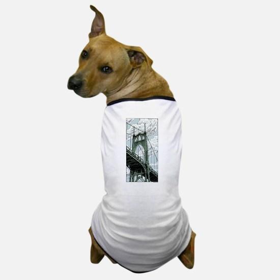 St. Johns Bridge Dog T-Shirt