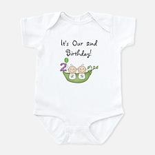 Twins 2nd Birthday Infant Bodysuit