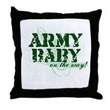 Army Baby On The Way!  Throw Pillow