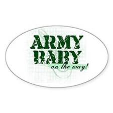 Army Baby On The Way! Oval Decal