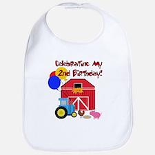 Farm 2nd Birthday Bib