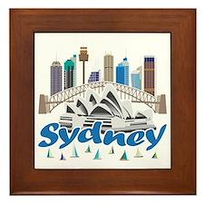 Sydney Skyline Framed Tile