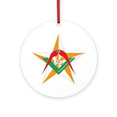 The Mason's Star Ornament (Round)