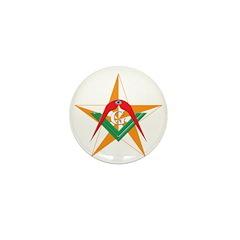 The Mason's Star Mini Button (100 pack)