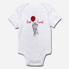 Sock Monkey 2nd Birthday Infant Bodysuit