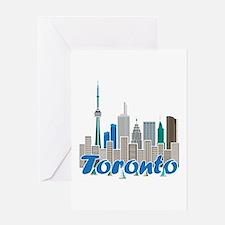 Toronto Skyline Greeting Cards