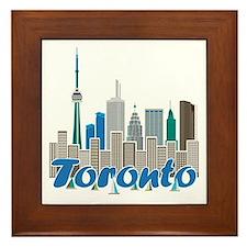 Toronto Skyline Framed Tile