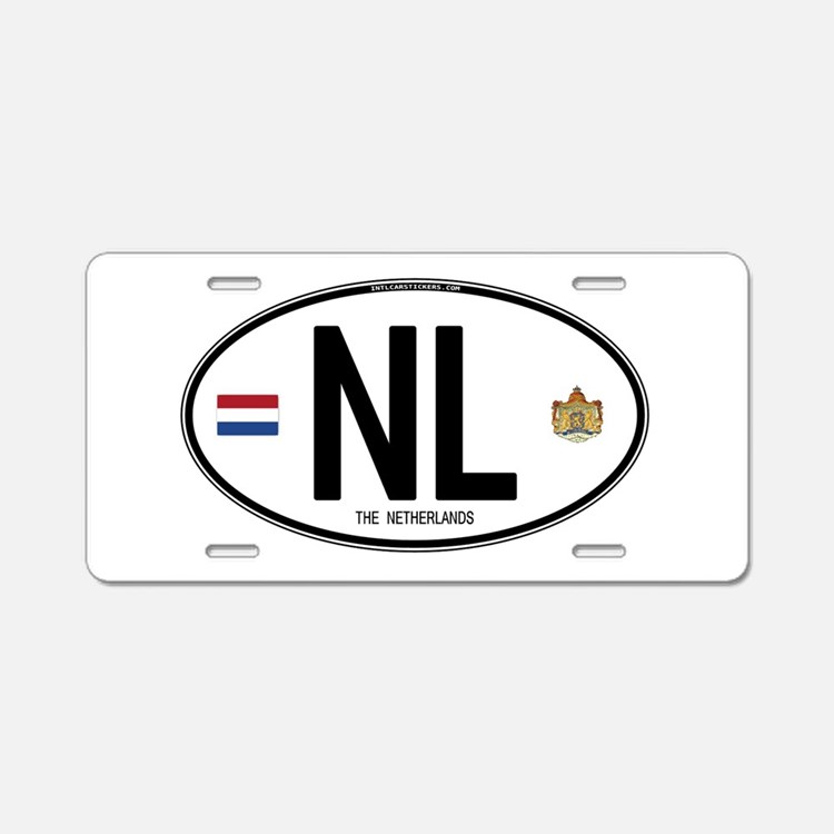 Cute Country code Aluminum License Plate