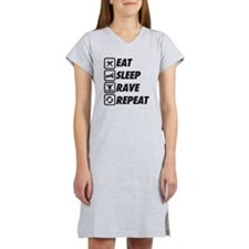 Eat Sleep Rave Repeat Women's Nightshirt