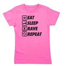 Eat Sleep Rave Repeat Girl's Tee