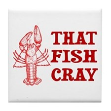 That Fish Cray Tile Coaster