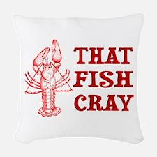 That Fish Cray Woven Throw Pillow
